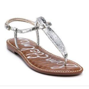 Sam Edelman silver thing Gigi sandals 7
